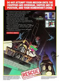 Advert for Hostage: Rescue Mission on the Nintendo NES.
