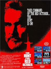 Advert for Hunt for Red October on the Nintendo NES.