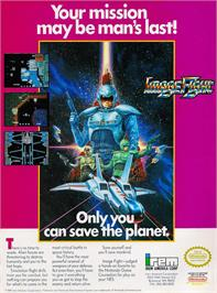 Advert for Image Fight on the Nintendo NES.