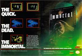 Advert for Immortal on the Atari ST.