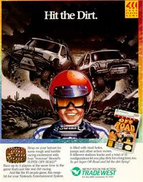 Advert for Ironman Ivan Stewart's Super Off-Road on the Sega Game Gear.