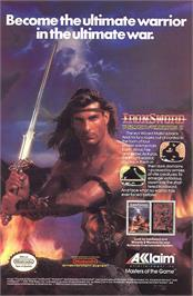 Advert for Ironsword: Wizards & Warriors 2 on the Nintendo NES.