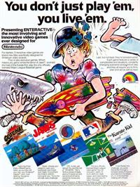 Advert for Jaws on the Nintendo NES.