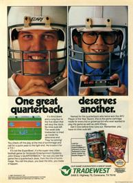Advert for John Elway's Quarterback on the Nintendo NES.