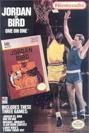 Advert for Jordan vs. Bird: One-on-One on the Nintendo NES.