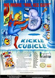 Advert for Kickle Cubicle on the Nintendo NES.