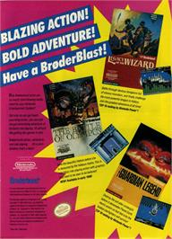 Advert for Legacy of the Wizard on the Nintendo NES.