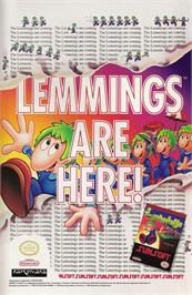 Advert for Lemmings on the Nintendo NES.