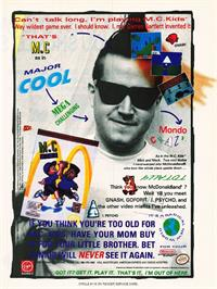 Advert for M.C. Kids on the Nintendo NES.