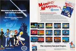 Advert for Maniac Mansion on the Atari ST.