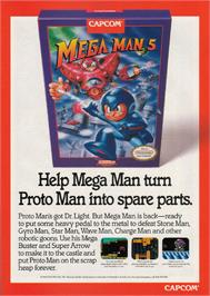 Advert for Mega Man 5 on the Nintendo NES.