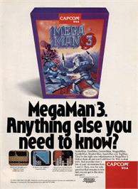 Advert for Mega Man III on the Nintendo NES.