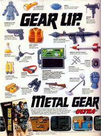 Advert for Metal Gear on the Nintendo NES.