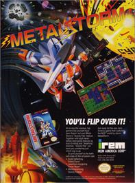 Advert for Metal Storm on the Nintendo NES.