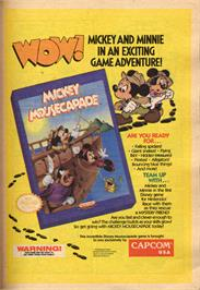 Advert for Mickey Mousecapade on the Nintendo NES.