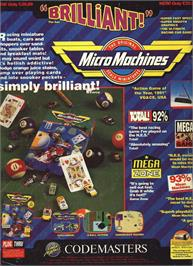 Advert for Micro Machines on the Nintendo NES.
