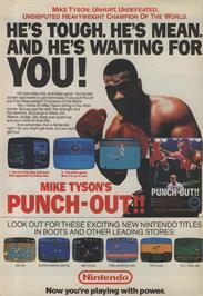 Advert for Mike Tyson's Punch-Out!! on the Nintendo Arcade Systems.