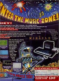 Advert for Miracle Piano Teaching System on the Sega Genesis.