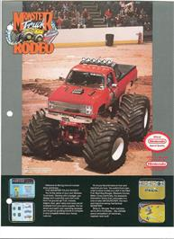 Advert for Monster Truck Rally on the Nintendo NES.