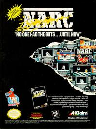 Advert for Narc on the Commodore Amiga.