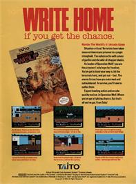 Advert for Operation Wolf on the Nintendo NES.