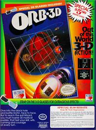 Advert for Orb-3D on the Nintendo NES.