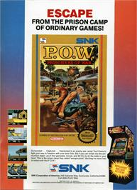 Advert for P.O.W. - Prisoners of War on the Nintendo NES.