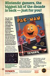 Advert for Pac-Man on the Nintendo NES.
