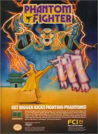 Advert for Phantom Fighter on the Nintendo NES.