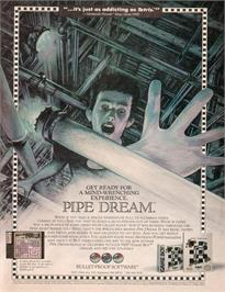 Advert for Pipe Dream on the Nintendo NES.
