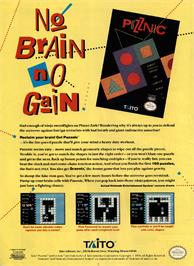 Advert for Puzznic on the Nintendo NES.