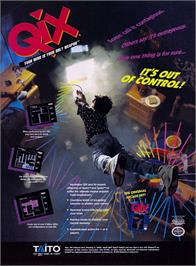 Advert for Qix on the Nintendo NES.