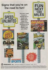 Advert for R.C. Pro-Am 2 on the Nintendo NES.