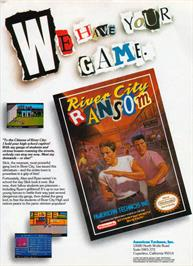 Advert for River City Ransom on the Nintendo NES.