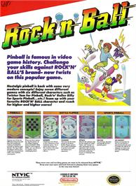 Advert for Rock 'n Ball on the Nintendo NES.