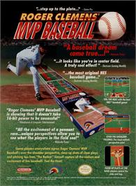 Advert for Roger Clemens' MVP Baseball on the Sega Nomad.