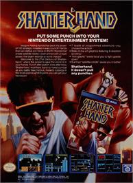 Advert for Shatterhand on the Nintendo NES.