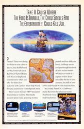 Advert for Sid Meier's Pirates on the Nintendo NES.