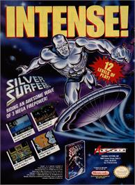 Advert for Silver Surfer on the Nintendo NES.