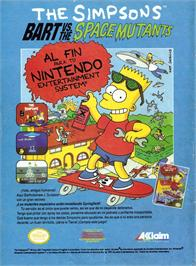 Advert for Simpsons: Bart vs. the Space Mutants on the Amstrad CPC.
