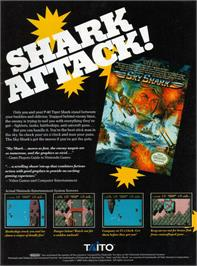 Advert for Sky Shark on the Commodore 64.