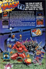 Advert for Smash T.V. on the Nintendo NES.