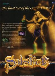 Advert for Solstice: The Quest for the Staff of Demnos on the Nintendo NES.