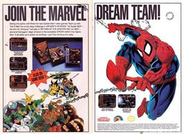 Advert for Spider-Man: Return of the Sinister Six on the Sega Master System.