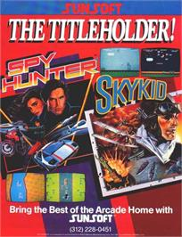 Advert for Spy Hunter on the Atari 8-bit.