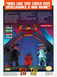 Advert for Spy vs. Spy on the Nintendo NES.