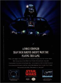 Advert for Star Wars: The Empire Strikes Back on the Nintendo NES.