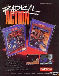 Advert for Strider on the Nintendo NES.