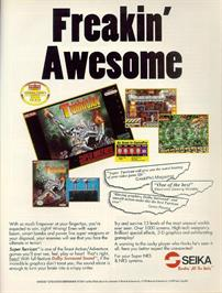 Advert for Super Turrican on the Nintendo SNES.