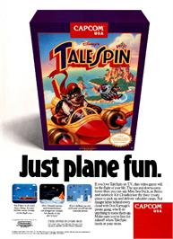 Advert for TaleSpin on the Sega Nomad.